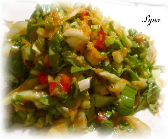 Salade de bok choy et carotte Salade11