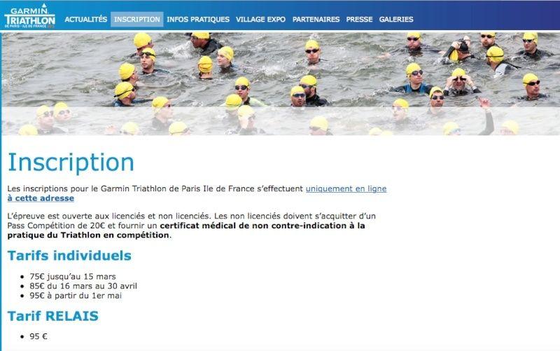 Triathlon de Paris le 5/07 à 75€ mini, ils sont malades!!! Captur15