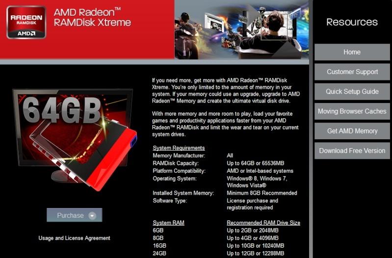 Radeon RAMdisk : AMD mise sur le stockage en mémoire vive 12521510