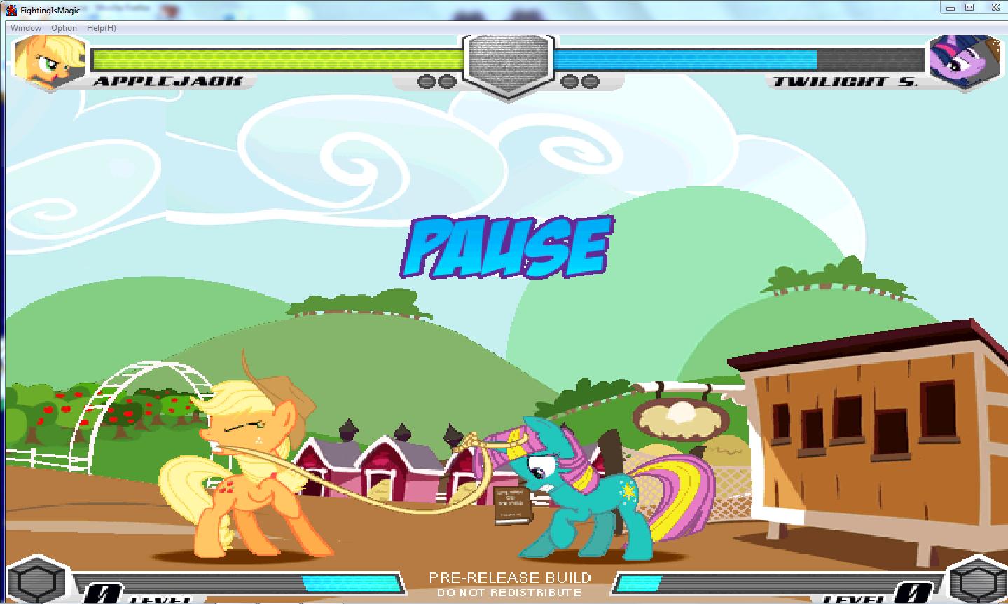 MLP Fighting is Magic: Un nouveau FanGame développé par Mane6 Aj_use10