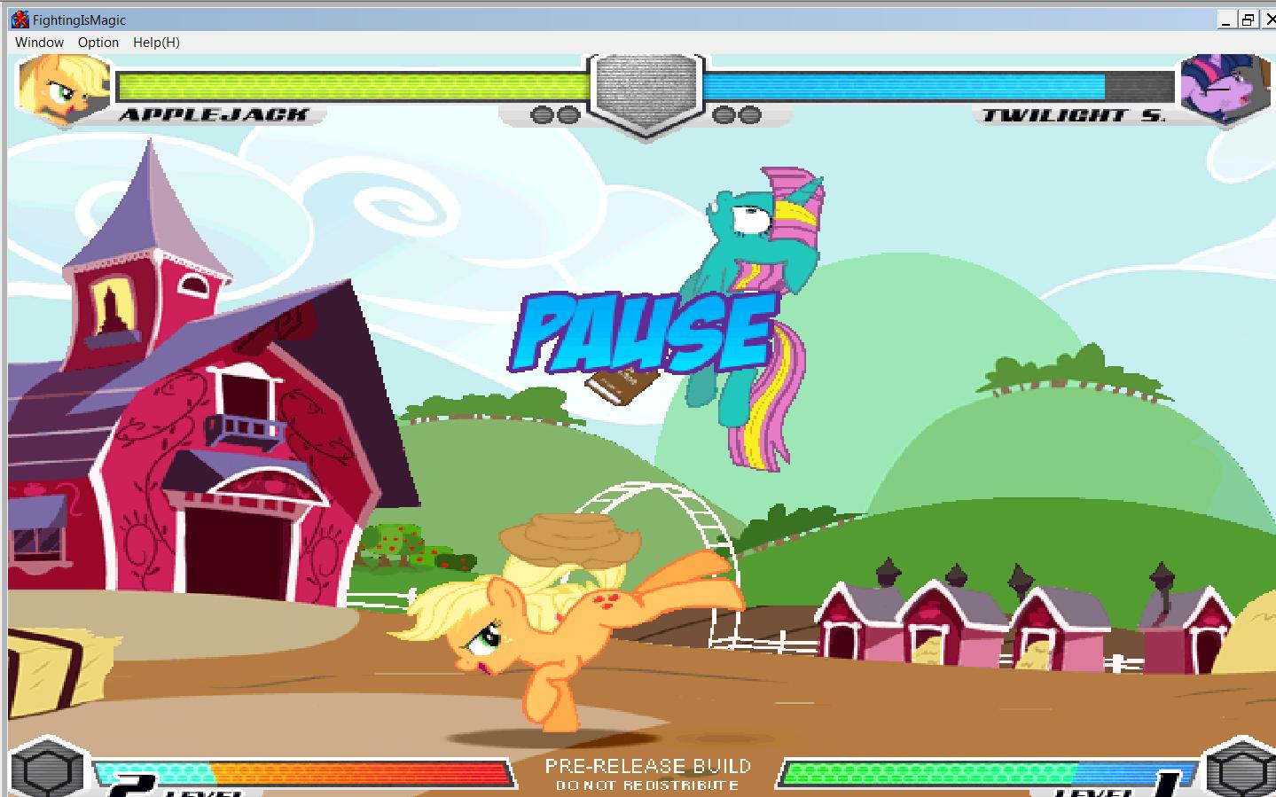 MLP Fighting is Magic: Un nouveau FanGame développé par Mane6 Aj_vs_10