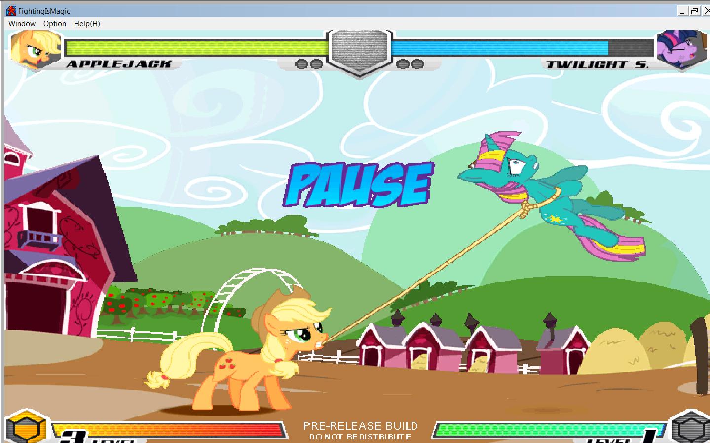 MLP Fighting is Magic: Un nouveau FanGame développé par Mane6 Aj_vs_11