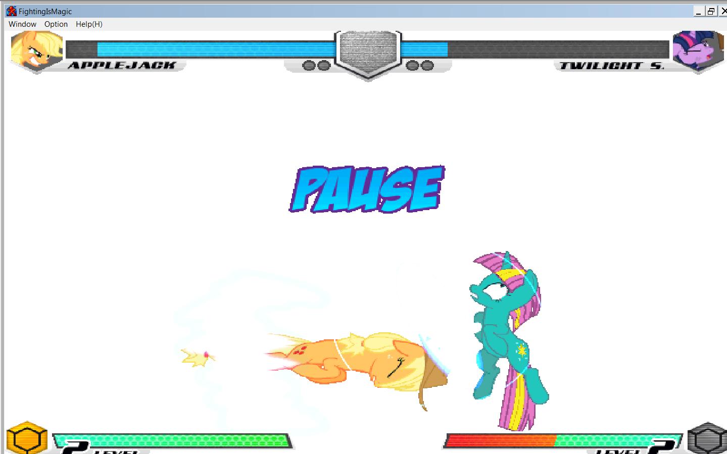 MLP Fighting is Magic: Un nouveau FanGame développé par Mane6 Aj_vs_12