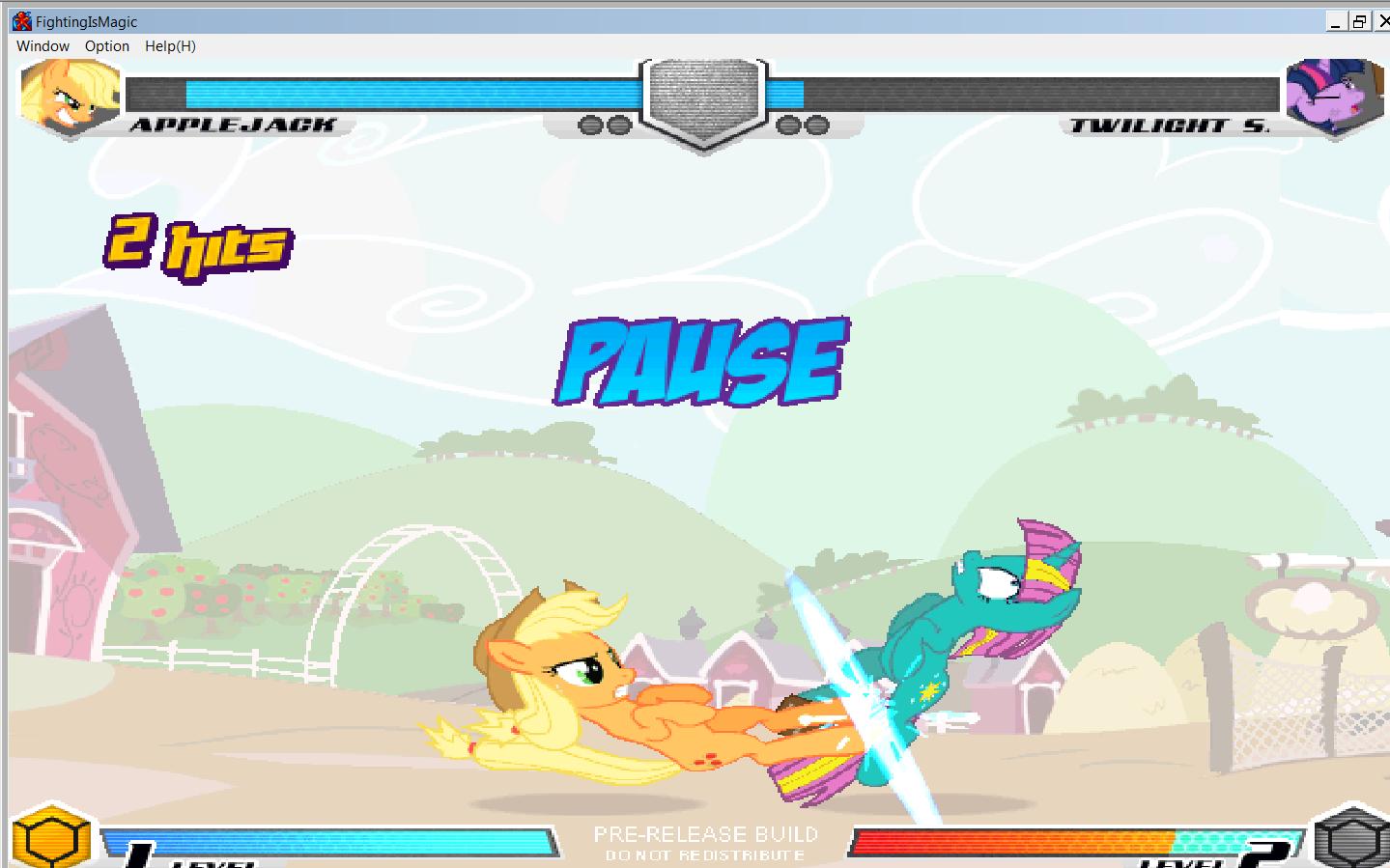 MLP Fighting is Magic: Un nouveau FanGame développé par Mane6 Aj_vs_13