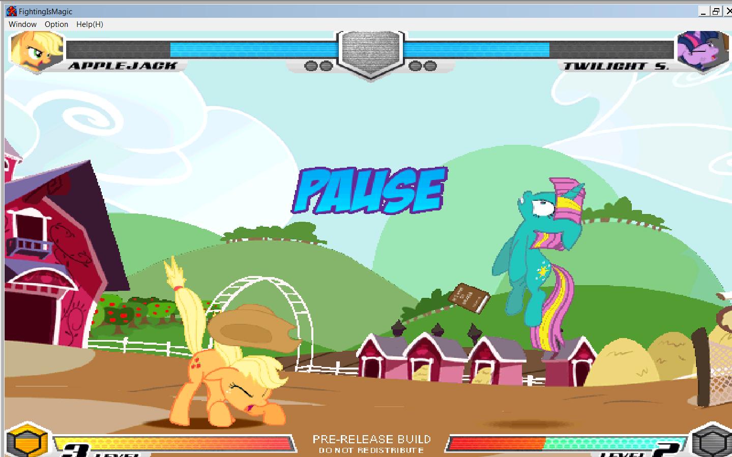 MLP Fighting is Magic: Un nouveau FanGame développé par Mane6 Aj_vs_14