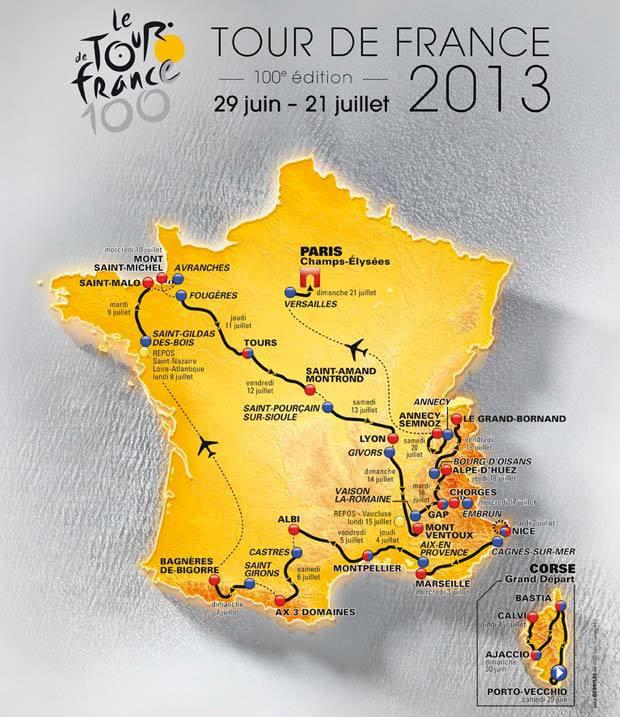 LE TOUR DE FRANCE CYCLISTE 2013... C'EST PARTI !!! Carte_10