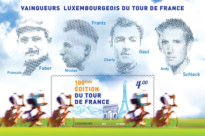 Timbre (Luxembourg) - Tour de France 2013 (Cyclisme) Luxemb10
