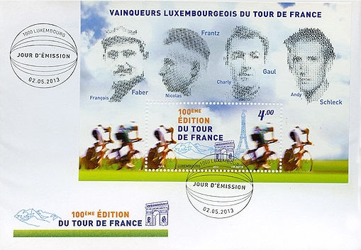 Timbre (Luxembourg) - Tour de France 2013 (Cyclisme) Luxemb11