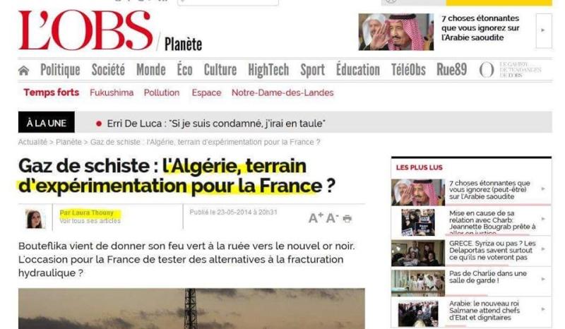 Gaz de Schiste: l'Algérie, terrain expérimentation pour la France?  184