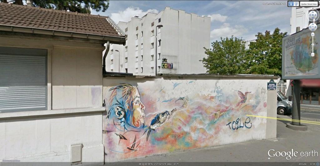 Les fresques murales dans 13ème Arrondissement de Paris, France. Fresqu11