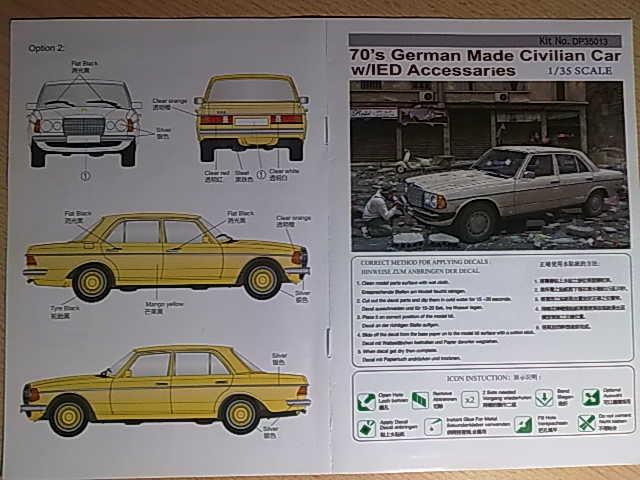 70`s German Made Civilian Car w/IED Accessaries 13022013