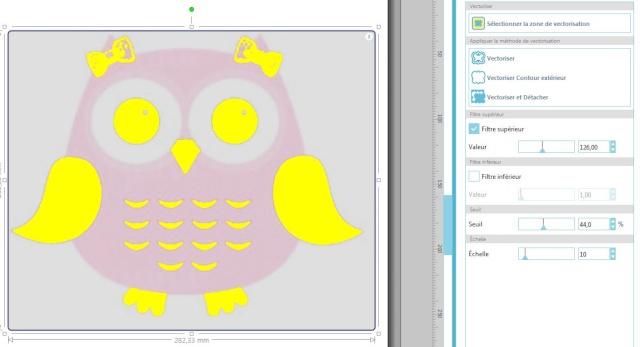 19 - Vectoriser et séparer les morceaux par couleur en vectorisation automatique. Captur26