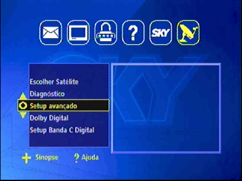 Guia + Tutorial Ilustrado canais Banda C na SKY Passo011