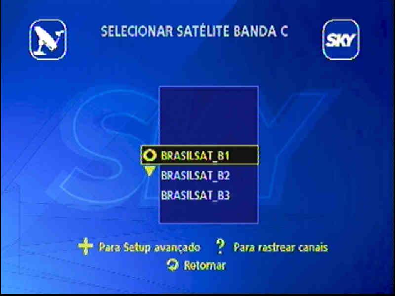 Guia + Tutorial Ilustrado canais Banda C na SKY Passo118