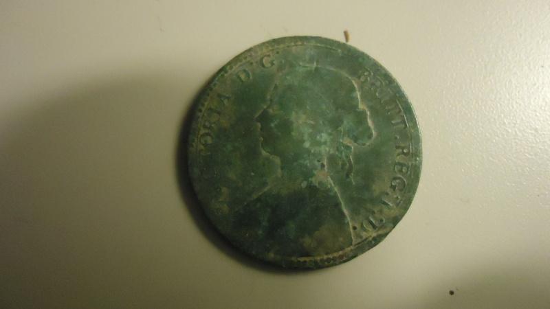 Demi penny anglais 1860 de la reine Victoria Dsc03811