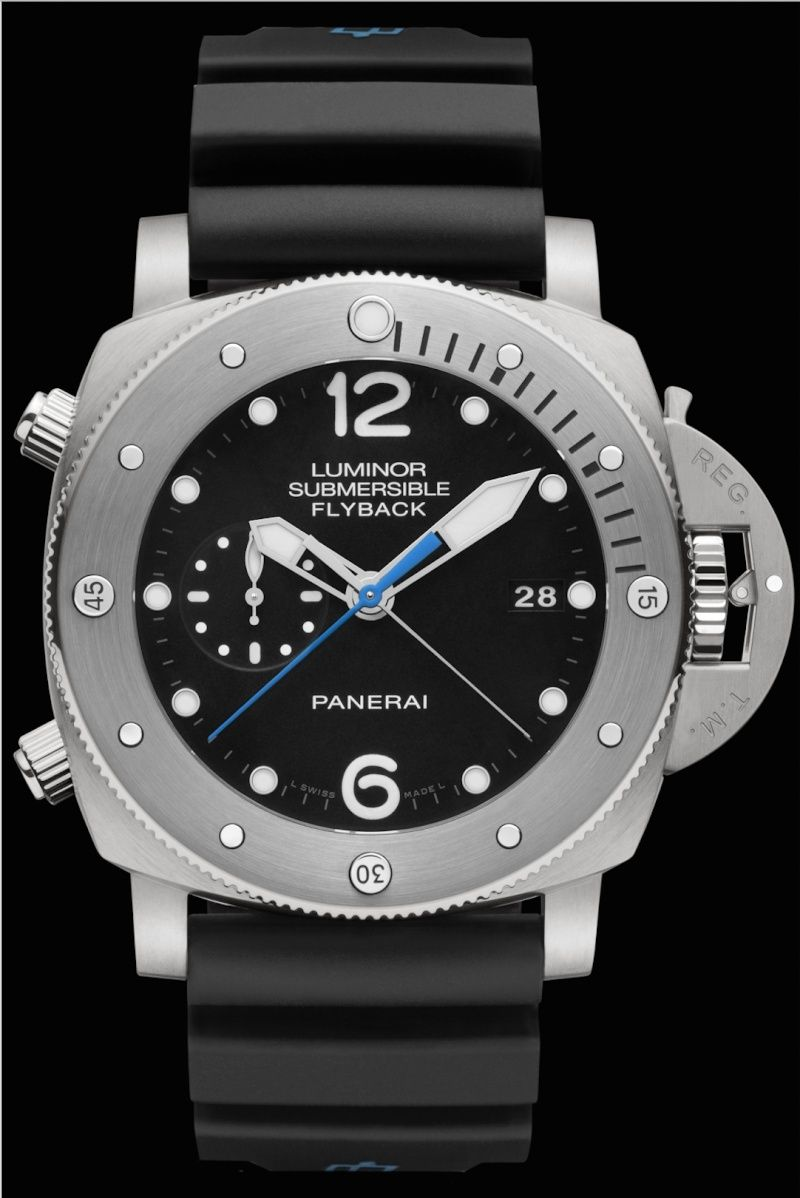 Communiqué de Presse : LUMINOR SUBMERSIBLE 1950 3 DAYS CHRONO FLYBACK AUTOMATIC TITANIO - 47MM - PAM00614 Captur23