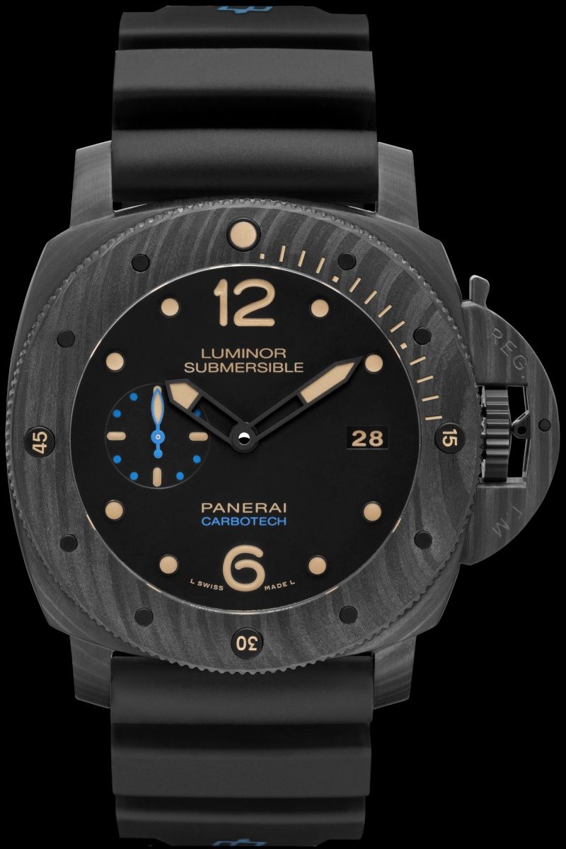 Communiqué de Presse : LUMINOR SUBMERSIBLE 1950 CARBOTECH ™ 3 DAYS AUTOMATIC - 47MM - PAM00616 Pam00642