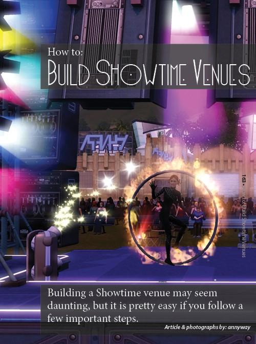 Building Showtime Venues, Living Sims 16310