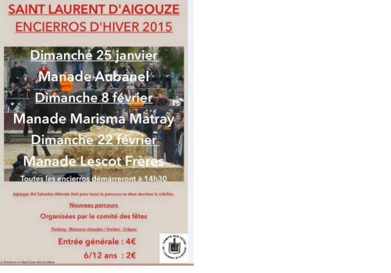 22 février 2015 : Encierro d'hiver Saint Laurent d'Aigouze - Lescot Frère Azer12