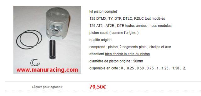 Pièces DTMX Piston10
