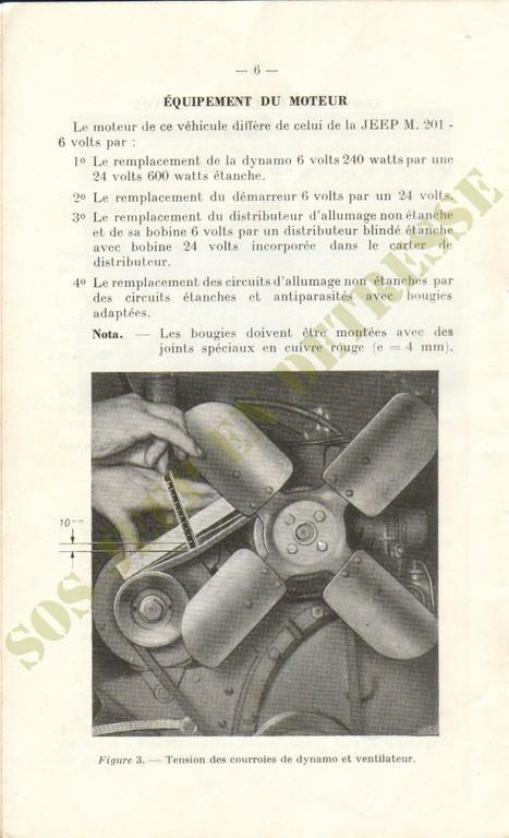 Spécificités Hotchkiss M201 24 volts Spycia20
