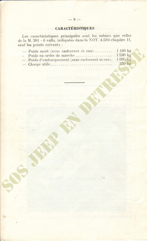 Spécificités Hotchkiss M201 24 volts Spycia22