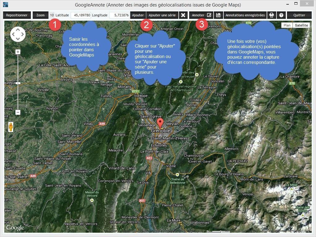 GoogleAnnote : annoter des images issues de GoogleMaps Ecran110