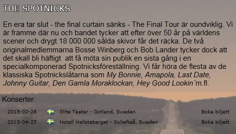 The Spotnicks Final Tour 2013 Spot110