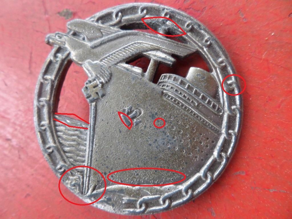 Insigne Kriegsmarine briseur de blocus  Sam_0211