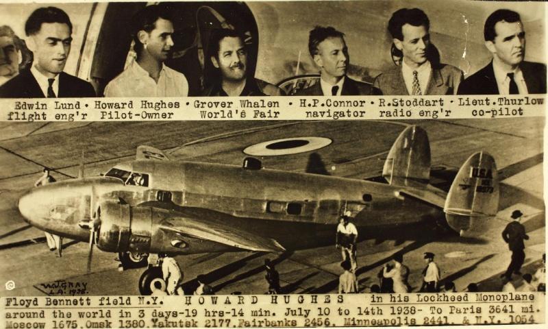 10 au 14 juillet 1938 - Tour du monde en moins de 4 jours par Howard Hugues 80917910