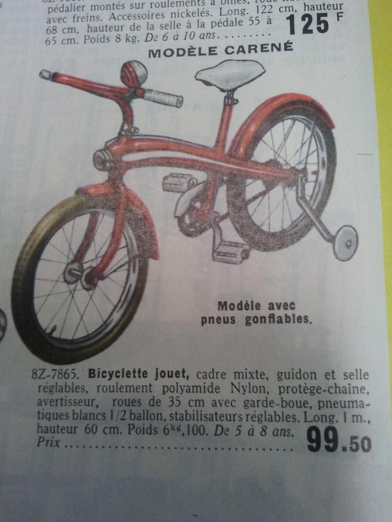 tricycle chromé inconnu +manufrance 1964. 2014-011