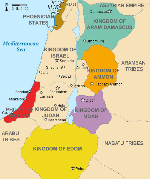 Map of Kingdoms around Israel circa 830BC Kingdo10