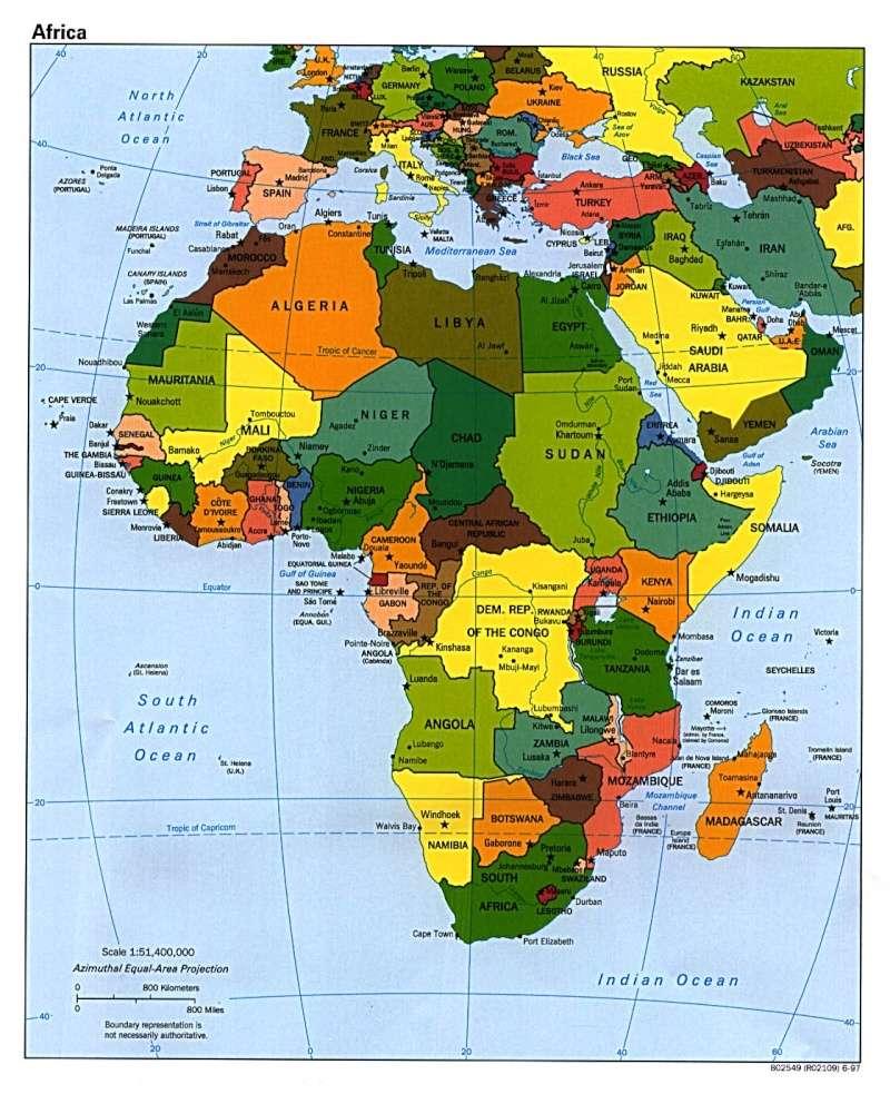 Map of Modern Day Africa Modern10