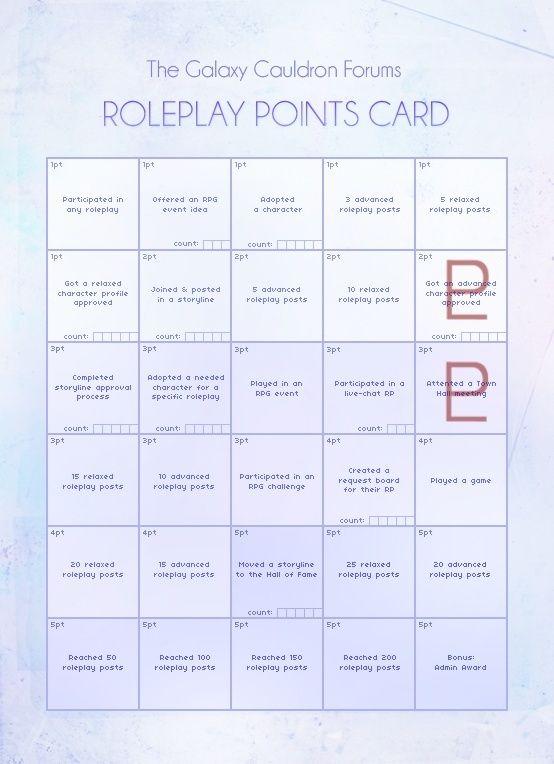 January RP Activity Point Card Januar10