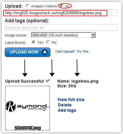 Hướng dẫn sử dụng host ImageShack Direct11