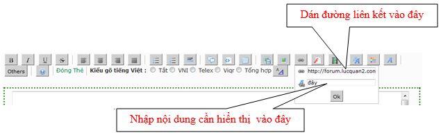 Hướng dẫn chèn liên kết khi viết bài trên Diễn đàn Lục quân 2 Link_510