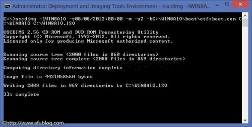 Cách tạo đĩa Windows 8 ISO DVD sử dụng Oscdimg.exe Oscdim10