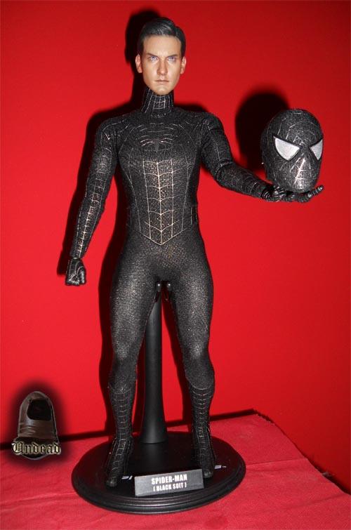 HOT TOYS Spider-Man (black suit+sandman diorama ) Sp1010