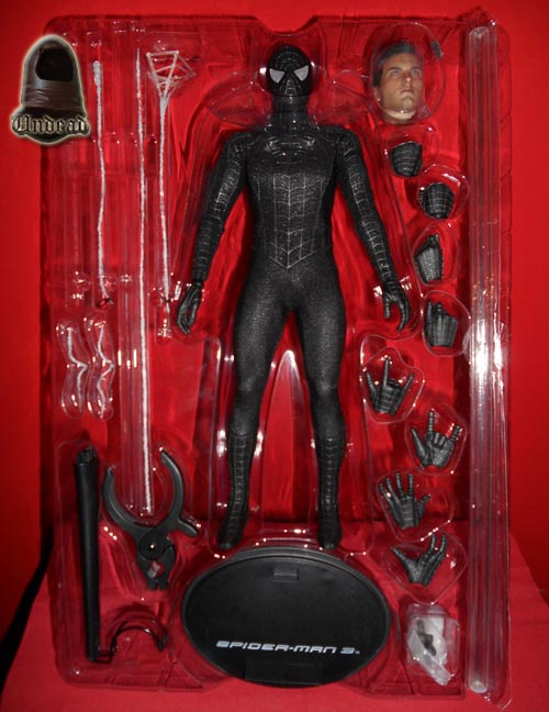 HOT TOYS Spider-Man (black suit+sandman diorama ) Sp111