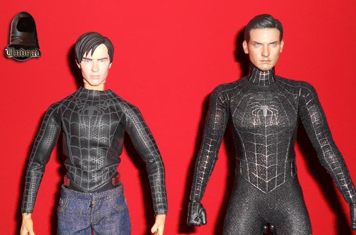 HOT TOYS Spider-Man (black suit+sandman diorama ) Sp1210