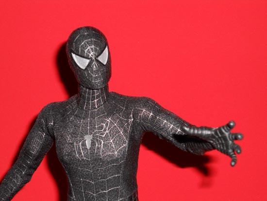 HOT TOYS Spider-Man (black suit+sandman diorama ) Sp3b10
