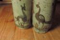 X2 Glazed Vases with Animals Dscn4119