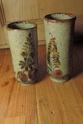 X2 Glazed Vases with Animals Dscn4120