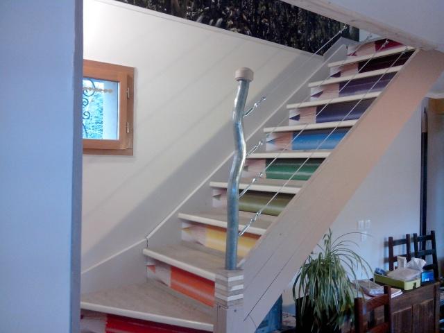 garde au corp escalier. Black Bedroom Furniture Sets. Home Design Ideas