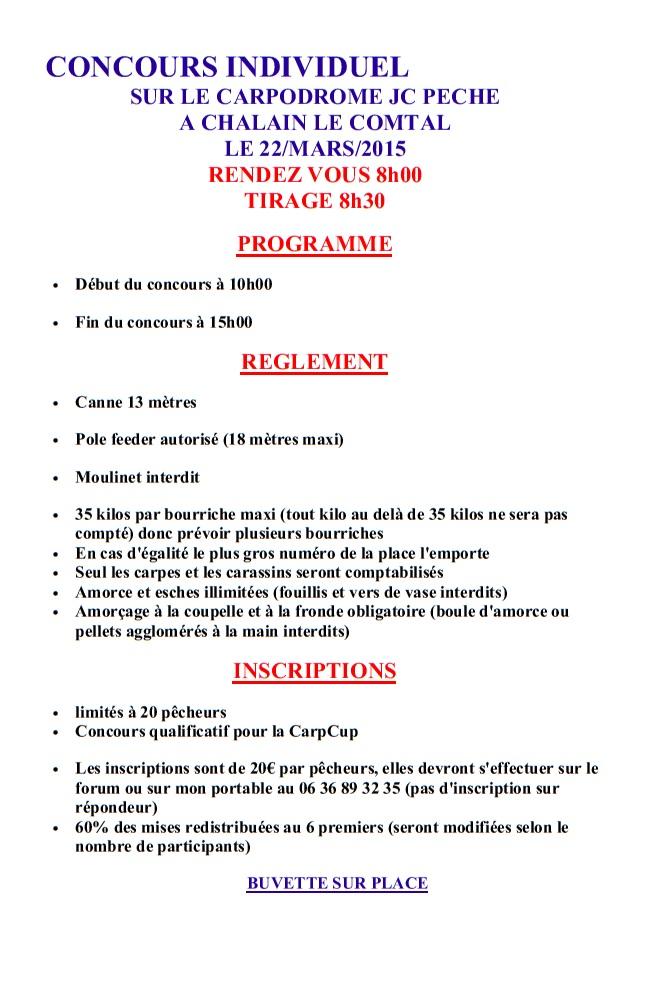 Concours individuel Carp Cup au carpodrome JC Pêche le 22 Mars Concou10