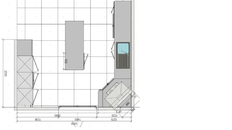 Aménagement d'un salon, séjour et si possible d'un bureau (pièce en longueur) Cuisin10