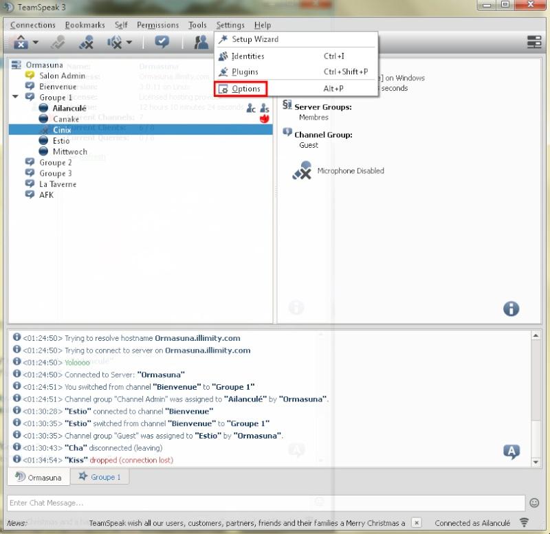 Comment se connecter au TeamSpeak de notre guilde ? (+ Réglage Micro) Screen13