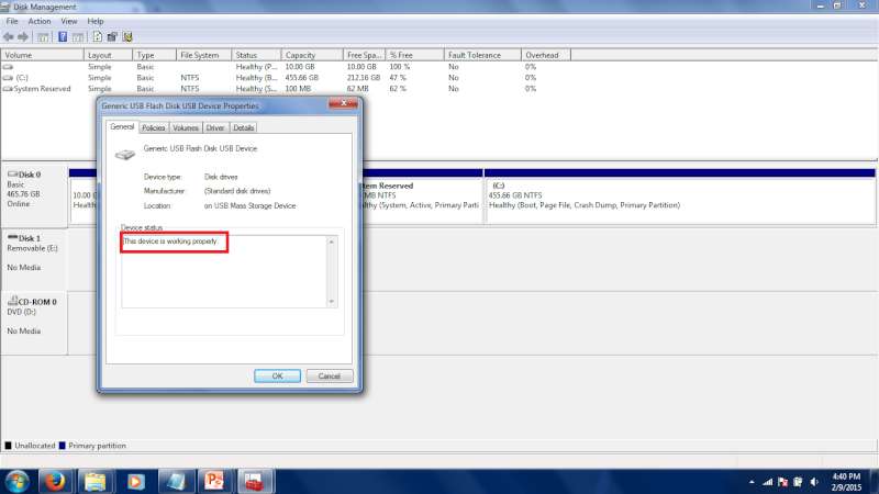 Problem with my usb flash drive. 12210
