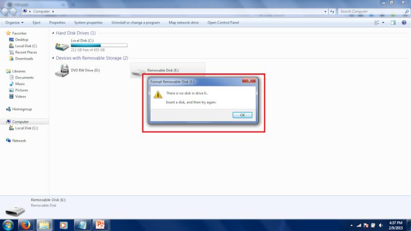 Problem with my usb flash drive. Untitl11