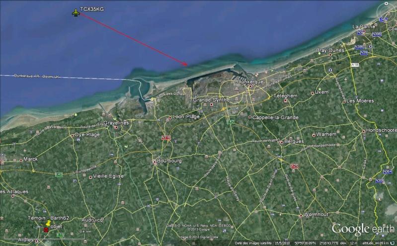 2013: le 25/07 à 22h45 - Boules lumineuses - bois en ardres - Pas-de-Calais (dép.62) Avion_11